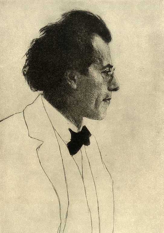 Gustav Mahler in un disegno di Emil Orlik del 1902